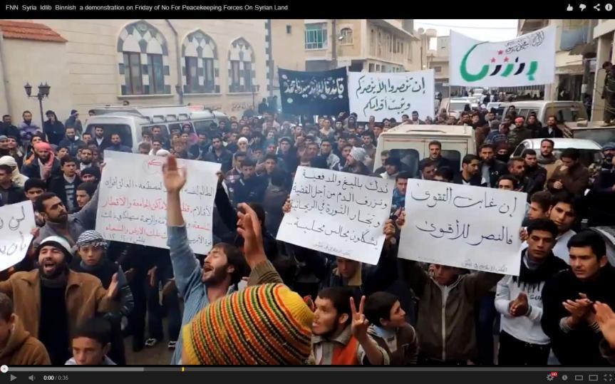 protest idlib
